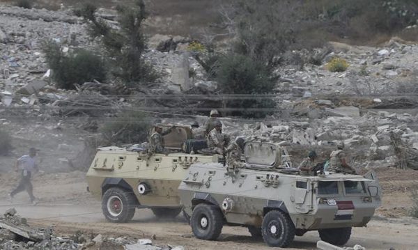 30 militants, four soldiers killed in Egypts Sinai raids