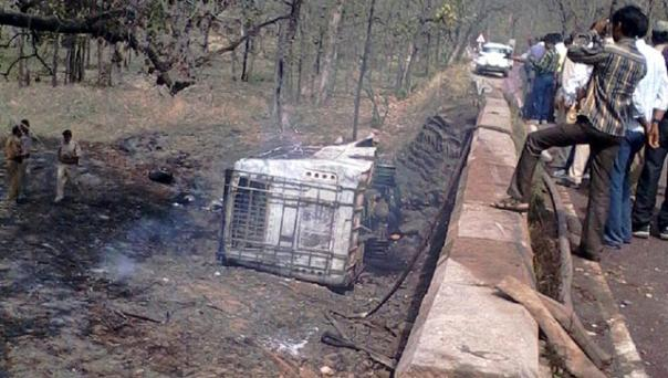 35 dead as bus falls off bridge, catches fire in MP