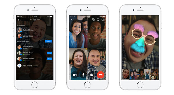 Facebook adds group video chat to Messenger