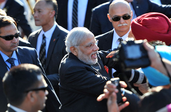 Modi wraps up three-nation visit, flies home