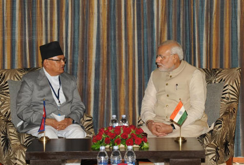 India, Nepal hold talks after Modis grand welcome