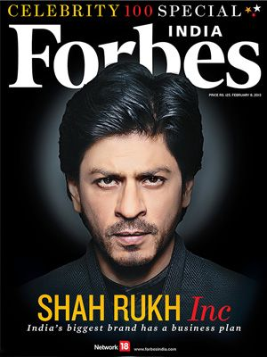 Rs.202.8 crore earnings help SRK top Forbes India Celebrity list