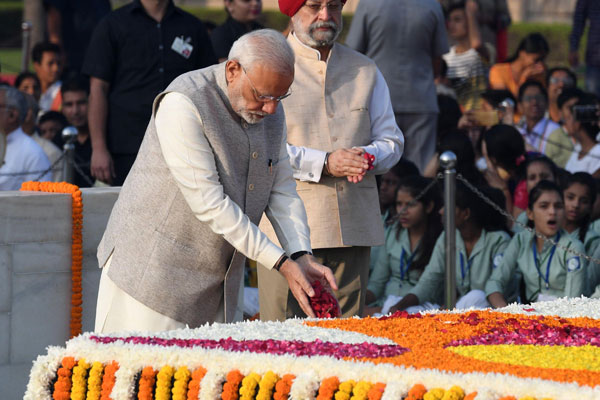 Nation pays floral tributes to Gandhi on his 149th birth anniversary