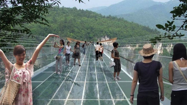 Worlds longest, highest glass bridge to open in China