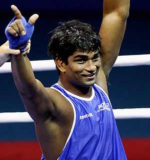 Indian boxer Satish settles for Asiad bronze