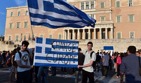 Greece becomes the first developed nation to default on IMF debt
