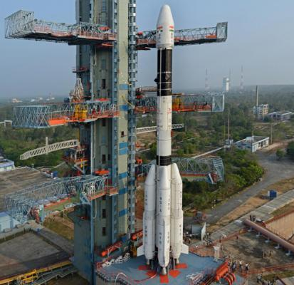Indian rocket lifts off with communication satellite