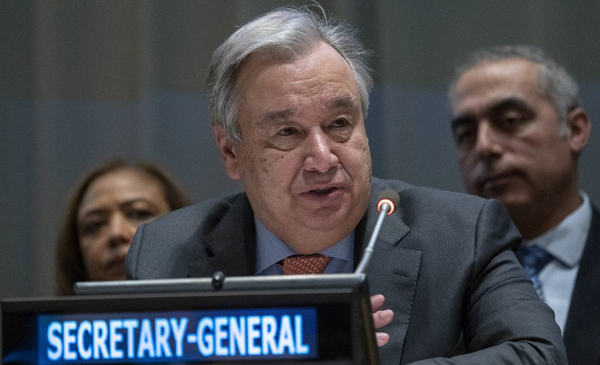 Guterres expresses doubt in enabling India-Pakistan dialogue