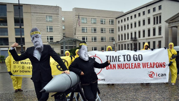 Nobel Peace Prize awarded to ICAN anti-nuclear weapons group