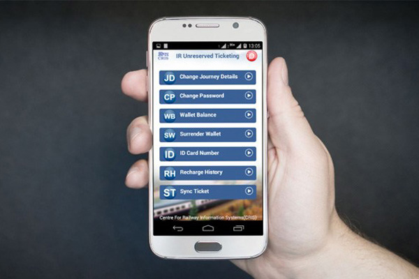 Now book unreserved train tickets through mobile from anywhere in India