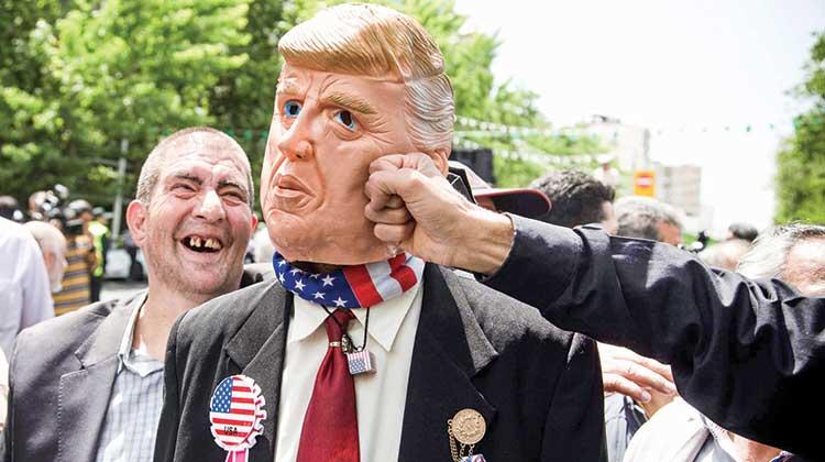Iran celebrates revolution, people chant death to America