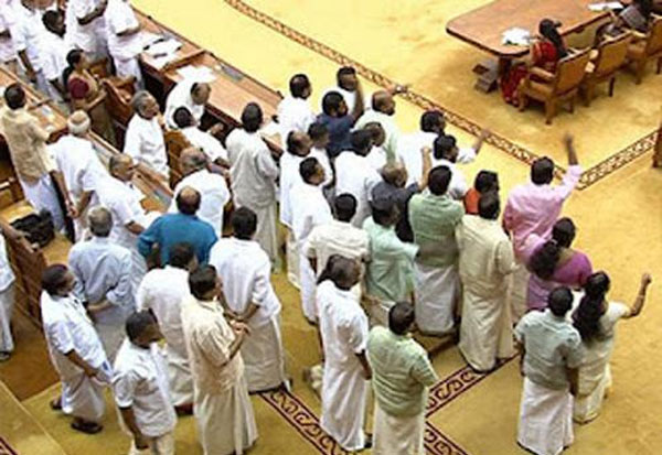 LDF walkout in Assembly over KSRTC pensioners issue