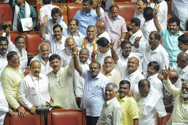 Karnataka Congress MLAs meet to be show of strength