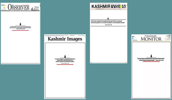 PCI notice to J-K administration over denial of govt ads to two dailies