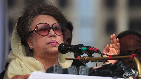 Ex-Bangladesh PM Khaleda charged with instigating arson