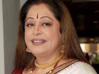 Protest against candidature of actress Kirron Kher from Chandigarh