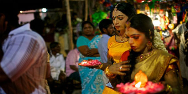 At this temple in Kollam, men dress up as women to get deitys blessings