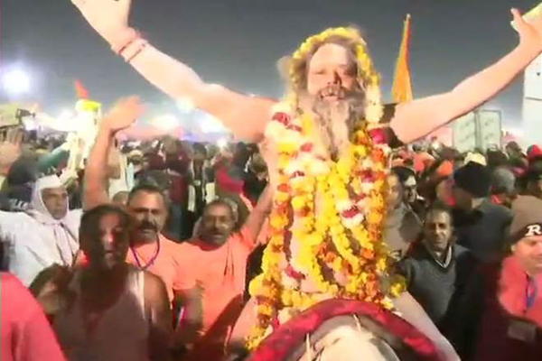 Devotees take holy dip on Makar Sankranti as Kumbh Mela opens