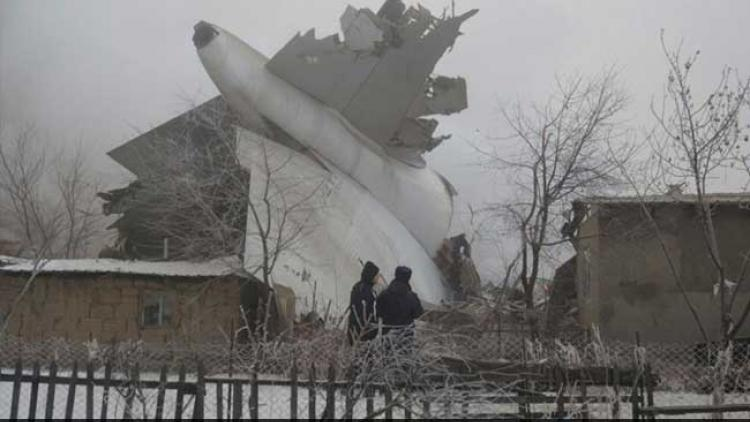32 dead as cargo plane crash destroys Kyrgyzstan houses