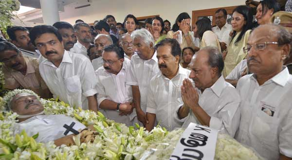 K.M. Mani laid to rest with full state honours