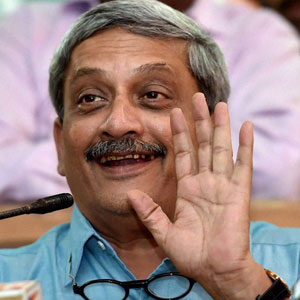 Parrikar takes a dig at Pakistan, says those who fear India have started reacting