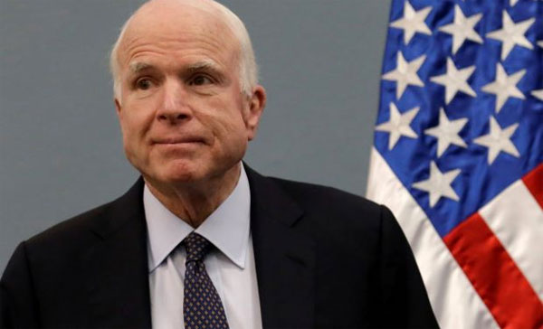 Top US Senator McCain diagnosed with brain cancer