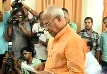 O. Rajagopal files nomination paper
