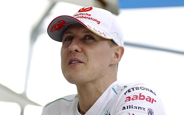 Wheelchair-bound Schumacher paralysed and speechless