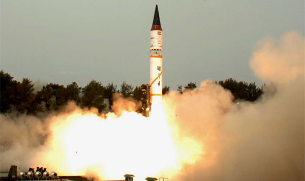 India test fires Agni II missile off Odisha coast