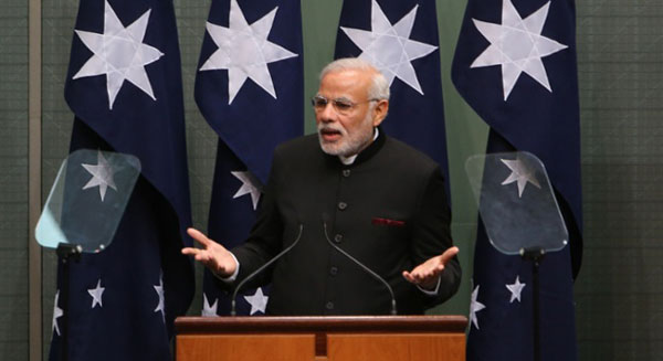 My speech could be Abbotts way of shirtfronting you, Modi jokes with Australian lawmakers