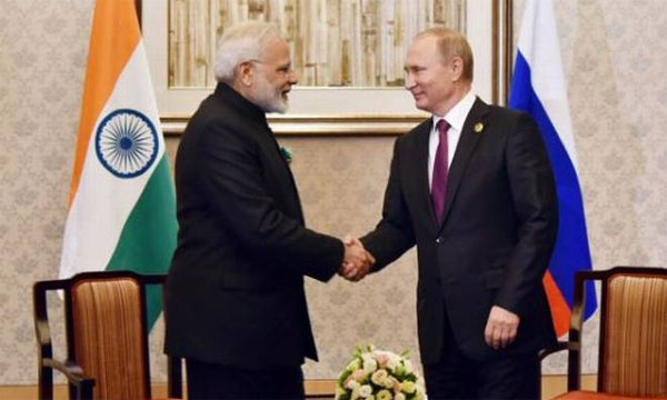 Modi, Putin discuss bilateral cooperation