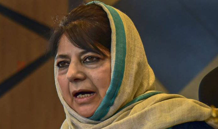 Mehbooba leads protest march against suspension of LoC trade