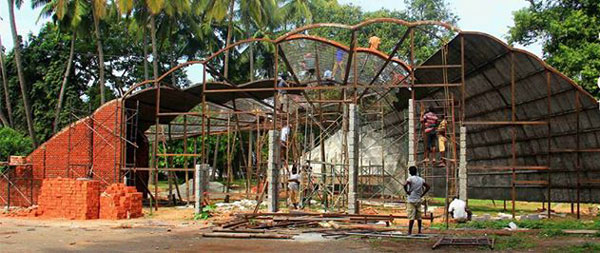 Innovative Pavillion in the making at Biennale venue