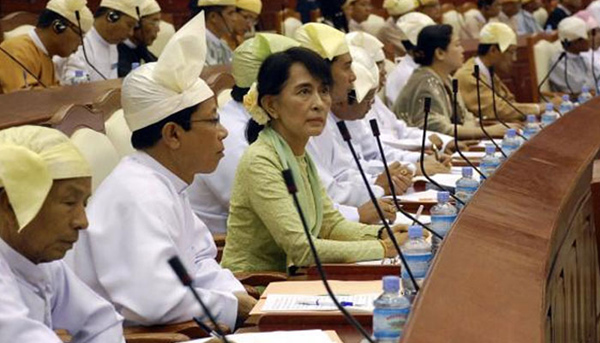 Myanmars newly-elected house starts first session