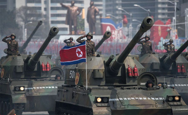 N Korea marks military anniversary with firing drill