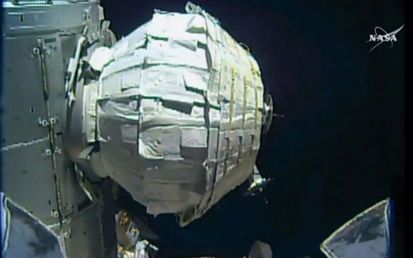 NASA successfully deploys space stations inflatable room