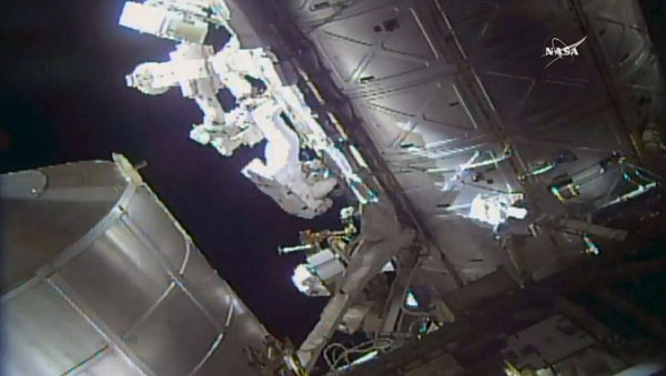 Two astronauts complete six-hour spacewalk