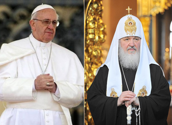 Pope in historic talks with Russian Orthodox leader
