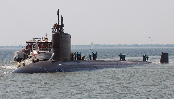 US sends n-submarine to South Korea