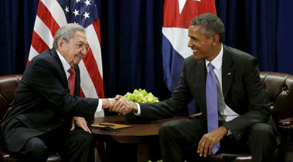 Obama, Castro meet at UN as US-Cuban relations thaw