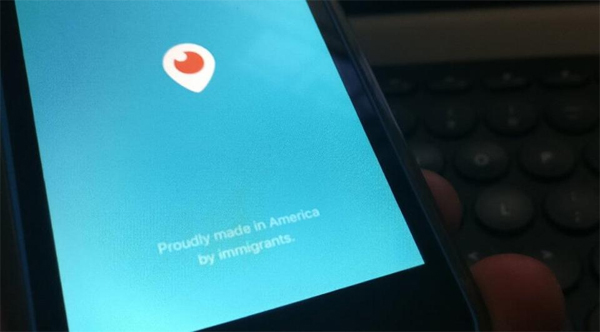 'Proudly made in America by immigrants', reads Twitter's Periscope