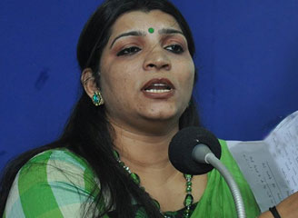 Letter being spread is fake: Saritha