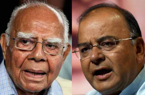 Ram Jethmalani attacks Jaitley on black money