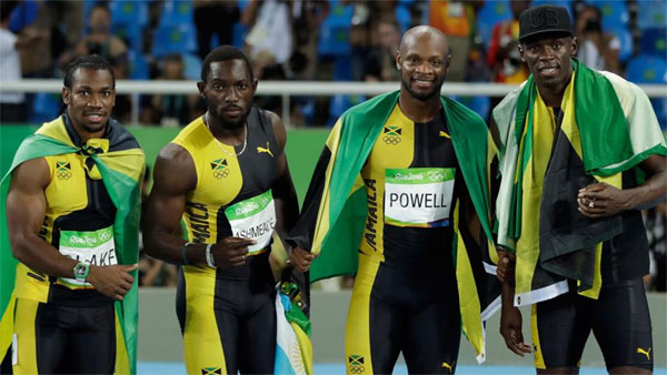 Bolt leads Jamaica to 4x100m gold