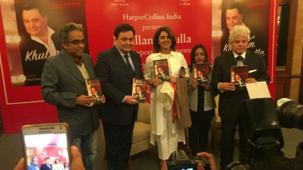 Rishi Kapoor launches his autobiography