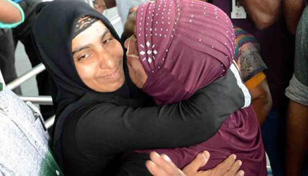 Keralite woman released by Maldives reaches home