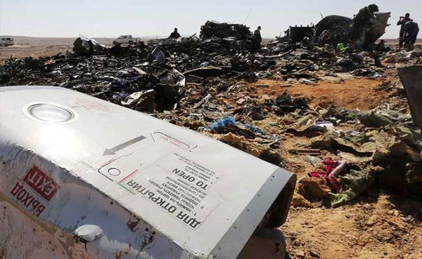 Russian plane that crashed in Egypt black boxes point to attack