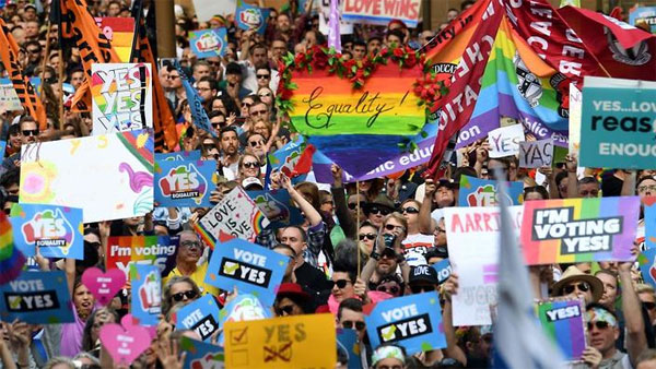 Australia votes yes to same-sex marriage