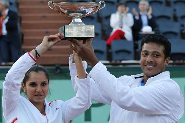 Need to adjust from clay to grass for Olympics:Sania, Bhupathi
