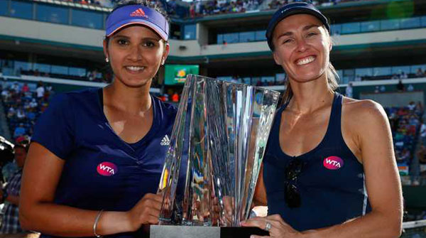 Sania-Hingis win BNP Paribas Open title